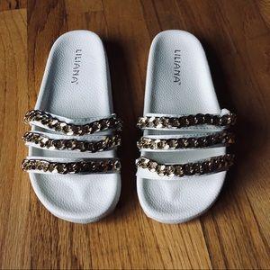 Shoes - Chain Slide sandals